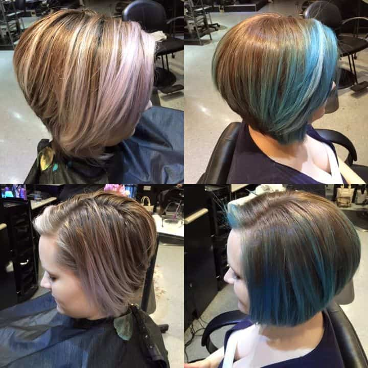 Spencer 39 s beautiful teal such beautiful color done by - Addiction hair salon ...