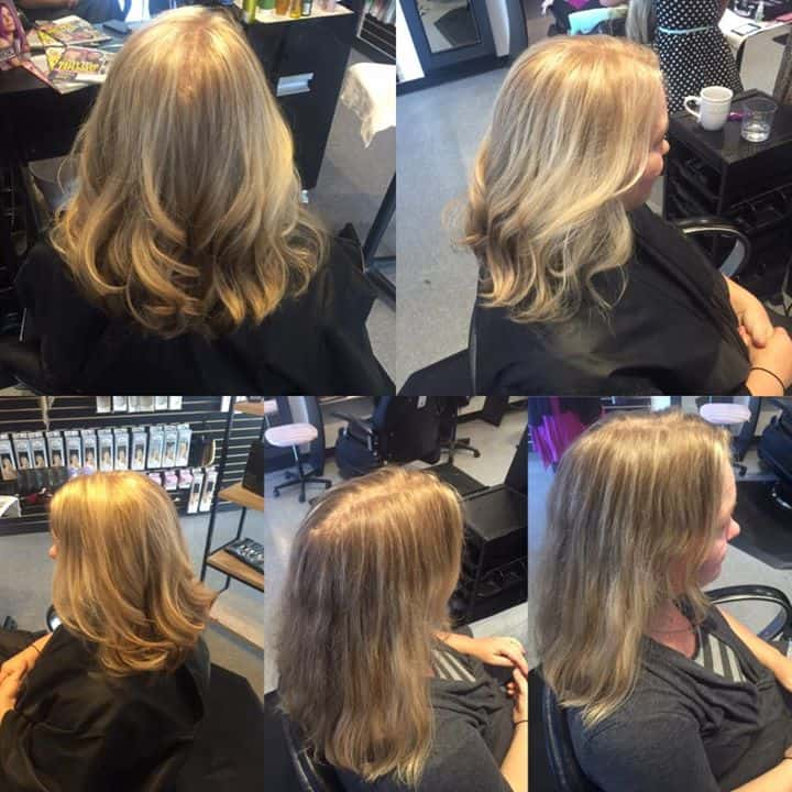 Before and after done by kenzie 39 best hair salon in cda - Addiction hair salon ...