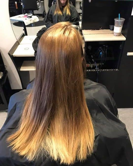 Natural balayage done by Kynzie  get your hair summer ready with a highlight or …