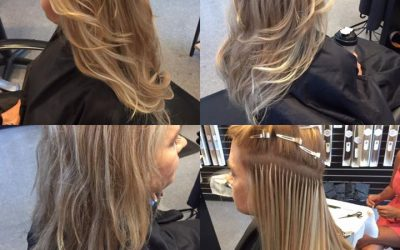 Adding length and thickness. Beautiful before and after by Reina D'souza