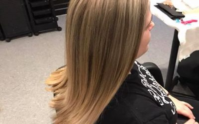 Before, During, and After! Full head highlight done by Kynzie ️ it's amazing how…