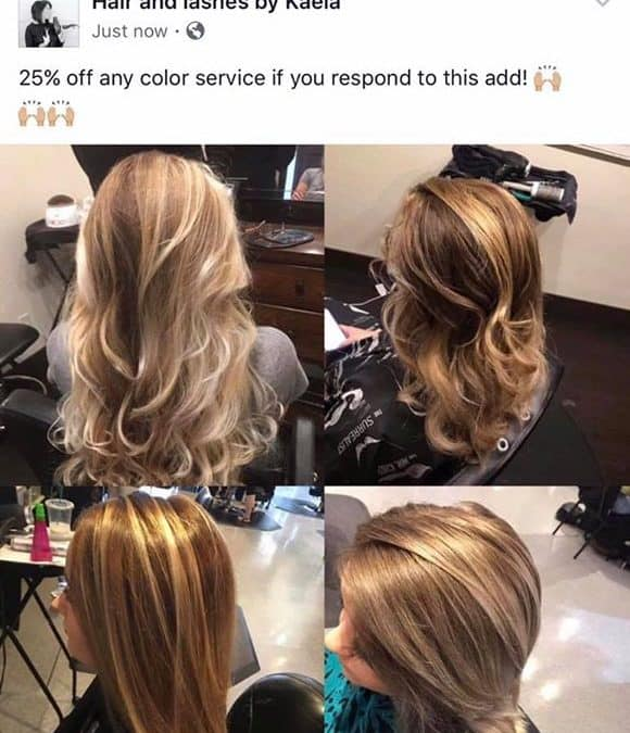 Book with Kaela for this great deal! 208-518-9717 or call the salon!