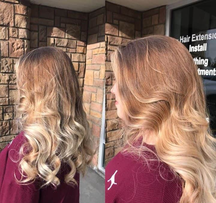 Brighten up your ends with an ombre! Done by Reina at Extension Addiction Salon