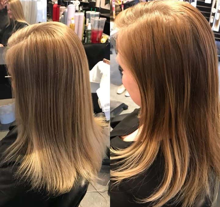Just a pop of color by Reina @ Extension Addiction Salon