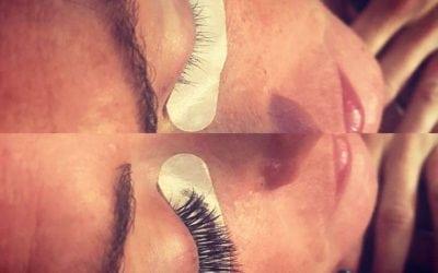 Before and after lashes by Ashley!   #lashes  #eyelashes  #eyelashextensions  #b…