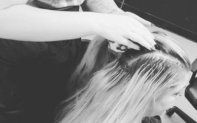 Extensions by merrika @Sweetbeehair    #behindthechair  #nbrextensions  #haircut…