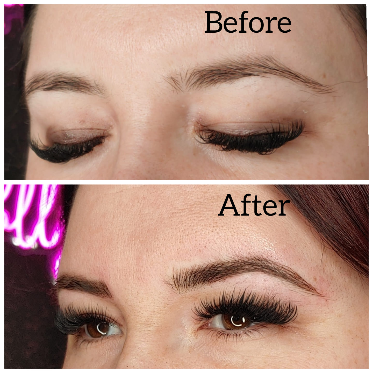 Tired of filling in your brows every day?!  Get your brows microbladed by our es…